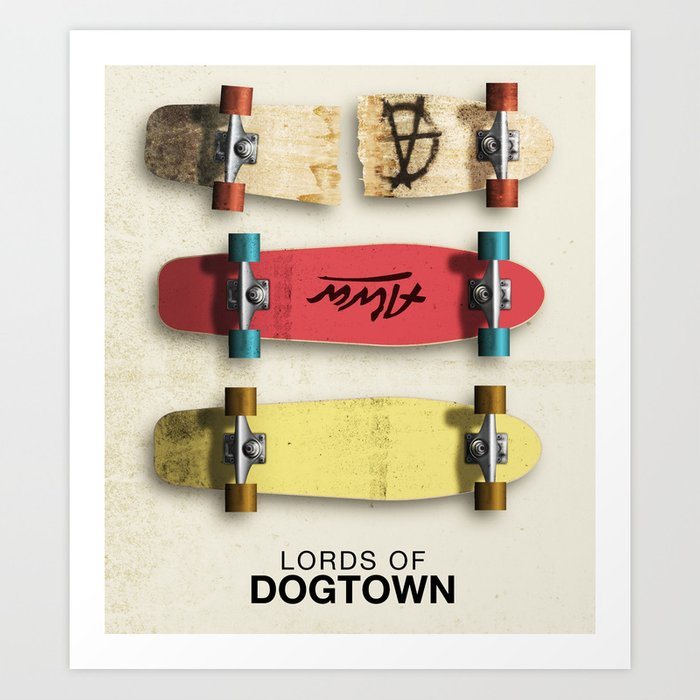 lords of dogtown movie poster art print by joelamatguell