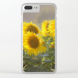 Sunflower Happy Clear iPhone Case