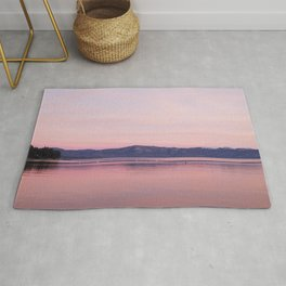 Rose Colored Dream of Lake Tahoe Rug