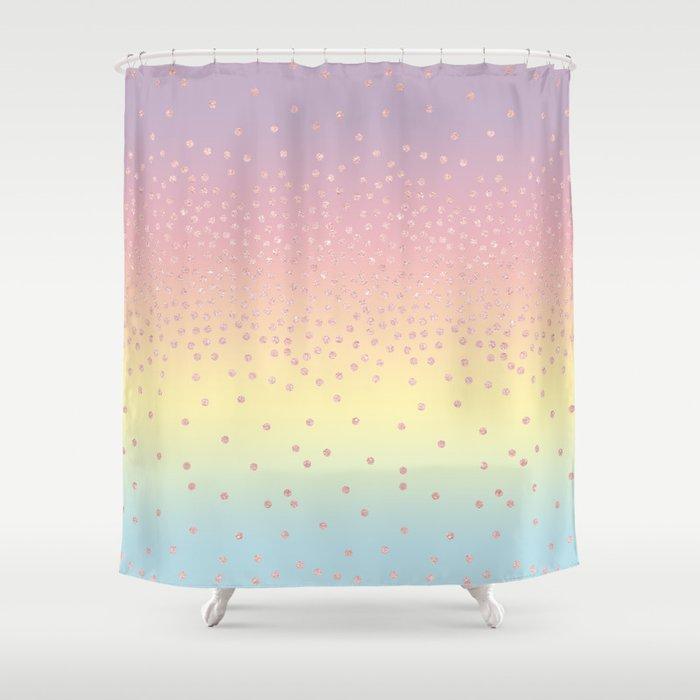 Cute confetti dots Shower Curtain