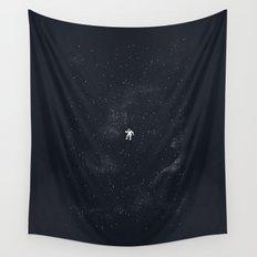 Gravity - Dark Blue Wall Tapestry