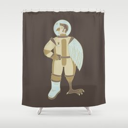 Bird Man Astronaut Shower Curtain