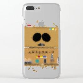 A.W.E.S.O.M-O Clear iPhone Case