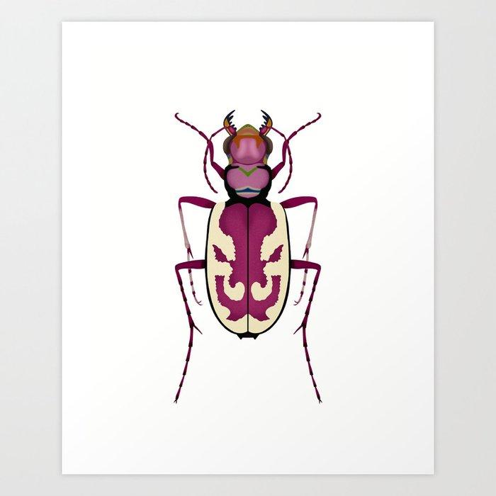 Blowout Tiger Beetle Art Print