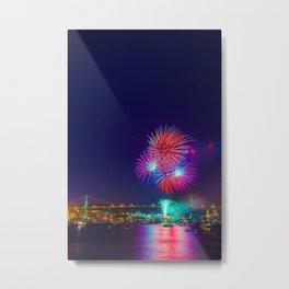 Canada Day Fireworks Metal Print