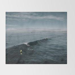 Summer Surf Session Throw Blanket