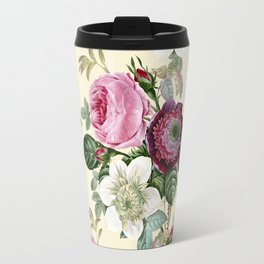 Floral enchant - cream Travel Mug