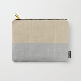 Benjamin Moore 2019 Color of Year Metropolitan & Putnam Ivory Cream Bold Horizontal Stripes Carry-All Pouch