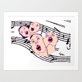 CHORAL SOCIETY           by Kay Lipton Art Print