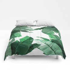 Tropical Palm Print Comforters