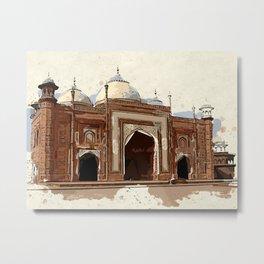 Agra taj mahal india palace Metal Print