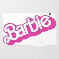 barbie Area & Throw Rugs featuring Barbie Girl by RickyRicardo787