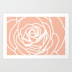 4x6 rose rug Art Print
