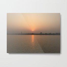 Kolkata Sunset Metal Print