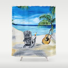 Beach Time with Martin Shower Curtain