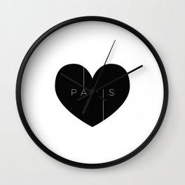 I left my heart in Paris Wall Clock