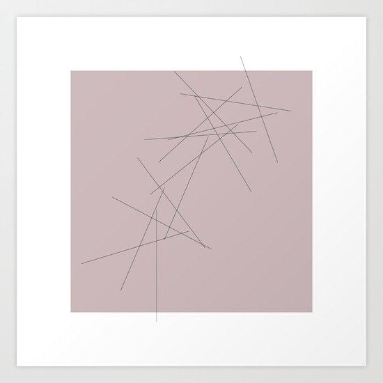#29 Falling  – Geometry Daily Art Print