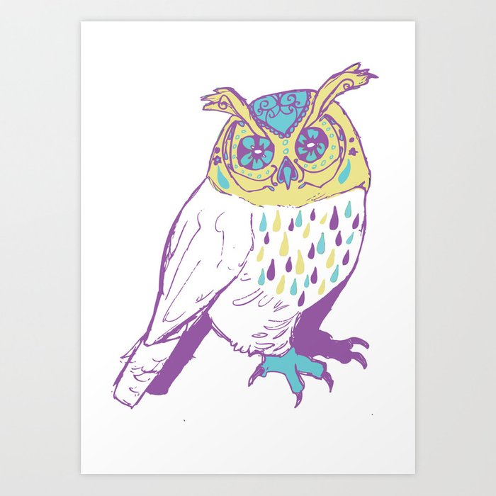 The second owl Art Print