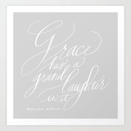 Marilynne Robinson in gray Art Print