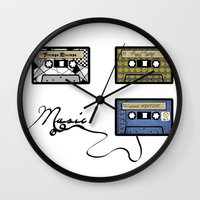 tape Wall Clocks featuring tape by Jeffrey Bourgeois