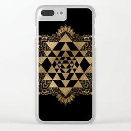 Sri Yantra  / Sri Chakra Clear iPhone Case
