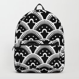 Fan Pattern Black & White 201 Backpack