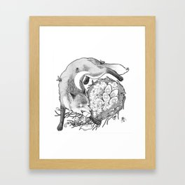 Torn By The Fox Of The Crescent Moon Framed Art Print