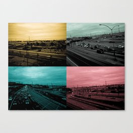 Riding on the metro, color Canvas Print