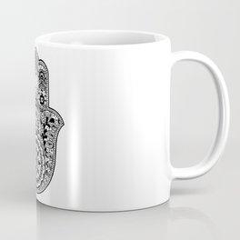 Black and White Hamsa Hand Coffee Mug
