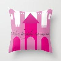 fairytale Throw Pillows featuring fairytale by Danielle J Design