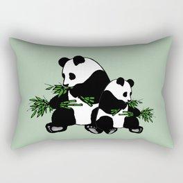 Growing Up Panda Rectangular Pillow