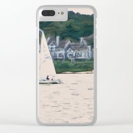 Sailboat Painterly Clear iPhone Case