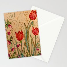 Tulips spring energy Stationery Cards