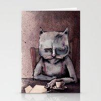 hemingway Stationery Cards featuring Hemingway cat by Jonathan Silence
