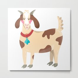 Cute Goat Metal Print