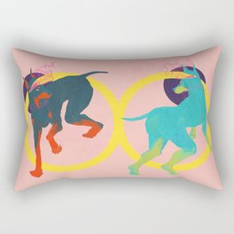 Lightheaded dogs Rectangular Pillow