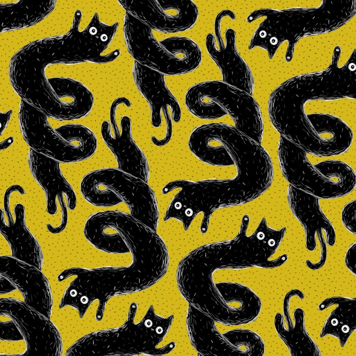 Twisted cat Duvet Cover