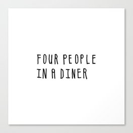 Four People in a Diner Canvas Print