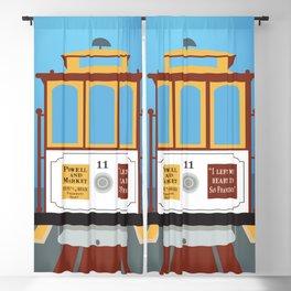 San Francisco, California - Skyline Illustration by Loose Petals Blackout Curtain