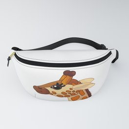 Cute giraffe. Vector graphic character Fanny Pack
