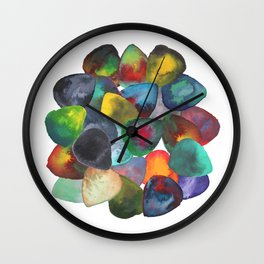 Guitar Picks Rock Formation Wall Clock