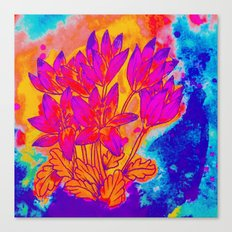 Colchicum Flower Painting Canvas Print