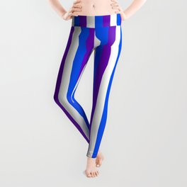 Team Colors 4... purple blue white Leggings