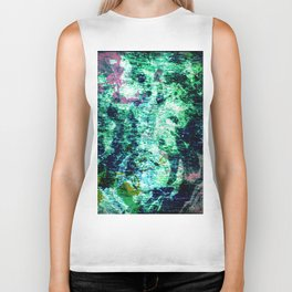 Face in Wood Abstract two Biker Tank