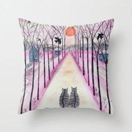 Winter Wood Watchers Throw Pillow