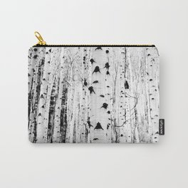 Black and White Aspen Trees Carry-All Pouch