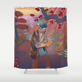 Ukiyo-e tale: The curse Shower Curtain