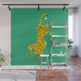 Green Leopard Wall Mural