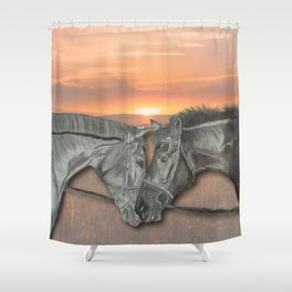 Equestrian Love Shower Curtain