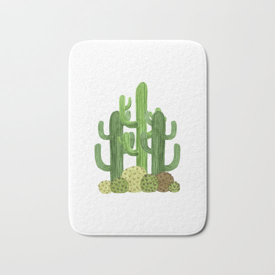Desert Vacay Three Cacti Bath Mat